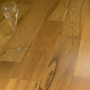 Stockholm Smooth Lacquered Oak Engineered Wood Flooring 14/3mm x 125mm