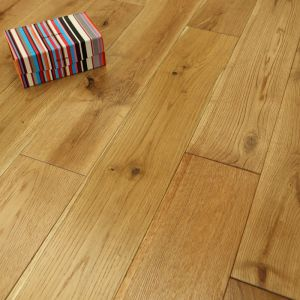 Solid Wood Flooring Natural Brushed Oak