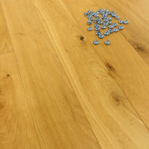 Natural Oak Smooth Lacquered Engineered Wood 125 x 18/5mm