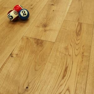 Brushed & Lacquered Engineered Oak Wood Flooring 150 x 18mm