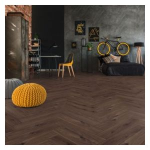 Kronoswiss Herringbone Laminate Flooring, Drummond Oak - 8mm x 133mm x 665mm