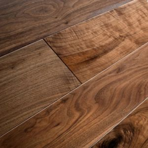 Rich Walnut Noce Wide Plank Engineered Oak Wood Flooring 190 x 18/4mm