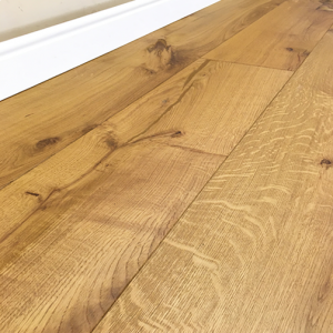 Bois De Vie Engineered Flooring, Matterhorn Oak, 20/6mm x 240mm x 2200mm, Smoked, Brushed & Oiled