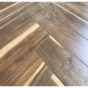 The Underground Collection Laminate Flooring, Holland Park Herringbone - 12mm x 90mm x 450mm (matt)