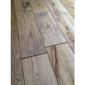 Bois De Vie Engineered Flooring, Lugano Oak, 18/5mm x 125mm x RL, Smoked Torched Brushed & Lacquered