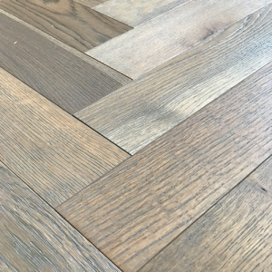 Caillou Grey Engineered Herringbone Oak Wood Flooring