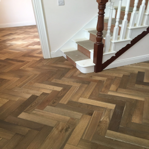 Bois De Vie Engineered Flooring, Pyrenees Herringbone, 18/5mm x 90mm x 400mm, Smoked B&L