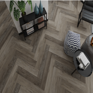 Balento Islands - SPC Waterproof Vinyl Flooring - Hudson Park Herringbone - 6mm x 110mm x 620mm - Underlay Attached