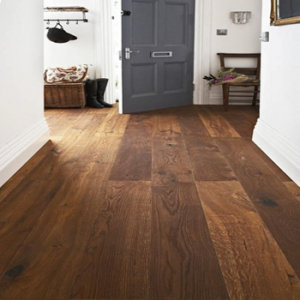 Bois De Vie Engineered Flooring, Trelleborg Oak, 14/3mm x 200mm x 2500mm -Smoked, Brushed & Oiled