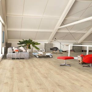 Quickstep Laminate Flooring - Creo - Virginia Oak Natural, CR3182 - 7mm x 190mm x 1200mm