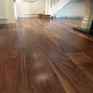 American Walnut Noce Smooth Lacquered Engineered Wood Flooring 125 x 14/3mm