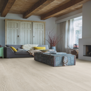 Quickstep Laminate Flooring - Majestic - Woodland Oak Light Grey, MJ3547 - 9.5mm x 240mm x 2050mm