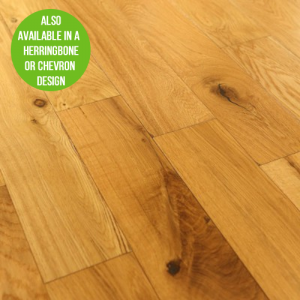 Natural Rustic Brushed Oak Engineered Wood Flooring 125 x 18/5mm